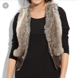 🔥WallpapHER Faux Fur Zip Up Vest Grays/Brown Sz M